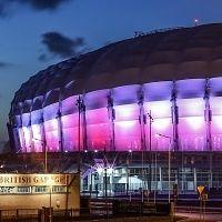 Poznań: Patriotyczna iluminacja stadionu na weekend majowy