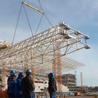 Sao Paulo: Przygotowania do wielkiego podnoszenia dachu