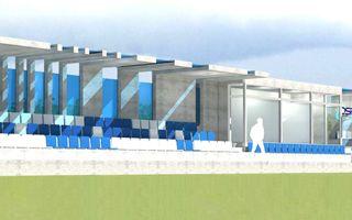 Stargard: Nowa trybuna na stadionie Błękitnych