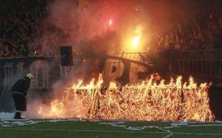 Bułgaria: Skandal w finale pucharu, zapaliły się bandy reklamowe