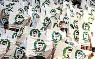Wiedeń: Kibice pożegnali stadion Rapidu