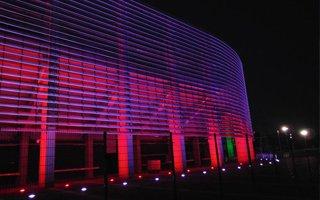Lublin: Pierwsze testy iluminacji Areny Lublin za nami
