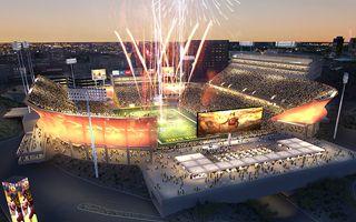 """USA: Stary stadion w Arizonie """"stanie w płomieniach"""""""