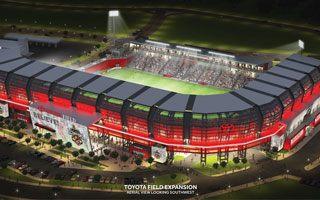 Nowy stadion i projekt: Toyota Field z ogonem skorpiona