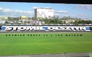 Olsztyn: Trybunę wschodnią pokryje mural kibiców?