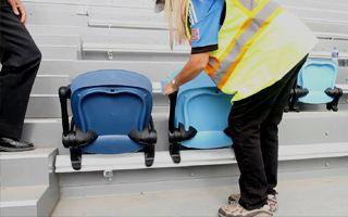 San Jose: Pierwsze krzesełka, jest nowy wzór widowni