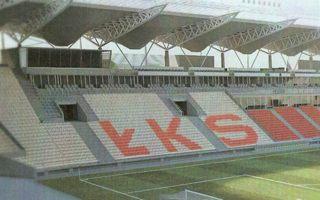 Łódź: Stadion ŁKS z krzesełkami w barwach klubu