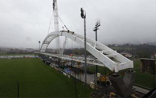 Bilbao: Historyczny łuk spoczął w kompleksie treningowym