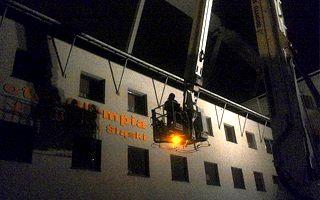 Chorzów: Znów wypadek na Śląskim, upadło rusztowanie