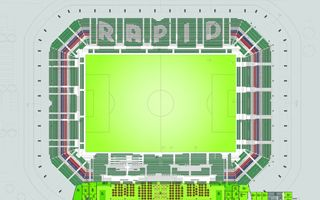 Wiedeń: Rapid pokazał kolorystykę nowego stadionu
