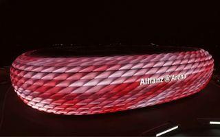 Monachium: Allianz Arena już z nową iluminacją