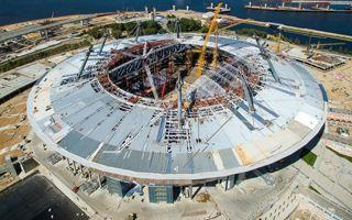 Rosja 2018: Dach w Sankt Petersburgu gotowy