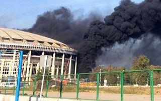 Moskwa: Co płonęło na Łużnikach?