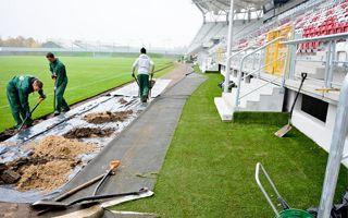 Łódź: Wykonawca poprawia drenaż na stadionie ŁKS