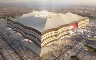 Katar 2022: Wielki namiot zmienia barwy