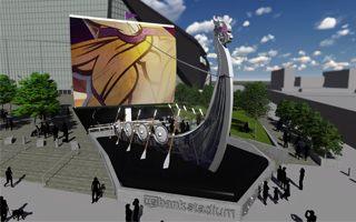 USA: Przy stadionie Vikings stanie statek