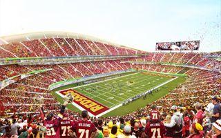 Nowy projekt: Stadion Redskins w wielkim leju