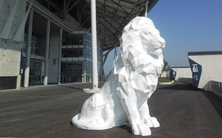 Lyon: Wielkie drukowane lwy zdobią nowy stadion