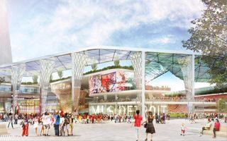 Nowy projekt: Nad trybunami park i trzy wieżowce