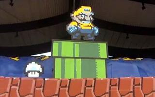 Wiedeń: Super Mario ożywiony na trybunach