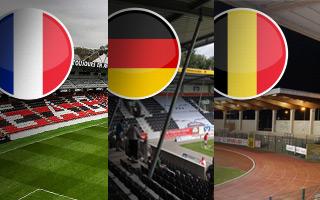 Nowe stadiony: Francja, Niemcy i Belgia