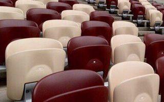 Moskwa: Komplet krzesełek na Łużnikach w lutym
