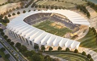 Nowy projekt: Stadion inspirowany liściem pandanu