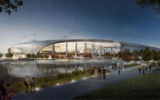 USA: Najdroższy stadion świata już ma prawie rok poślizgu