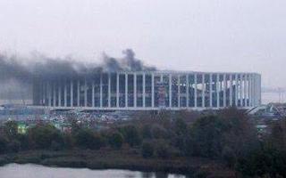 Rosja 2018: Pożar na stadionie w Niżnym Nowogrodzie