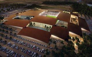 Nowy projekt: Stadion złożony z 16 stodół