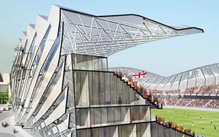 Nowa budowa: Stadion tańczący chorumi w Batumi