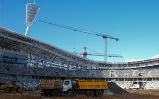 Mińsk: Stadion Dinama konstrukcyjnie gotowy
