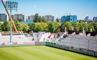 Łódź: Stadion ŁKS rośnie bardzo szybko