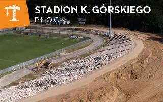 Nowa budowa: Kruszenie trybun w Płocku