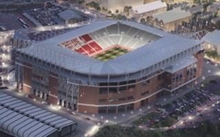 Anglia: Budowa mostu obok Stadium of Light nabiera tempa