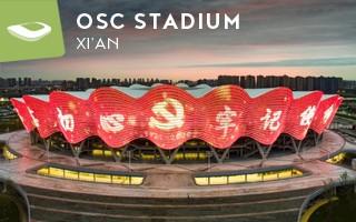Nowy stadion: Kwiat granatu w Xi'an