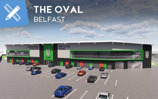 Nowy projekt: Oval w Belfaście już nie będzie owalny