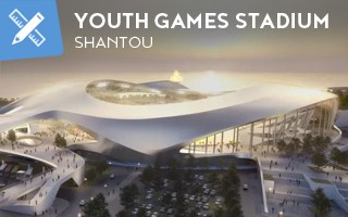 Nowy projekt: Stadion zaledwie 50 metrów od morza w Shantou