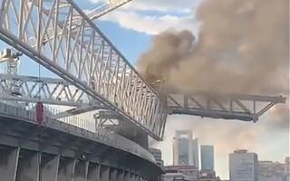 Madryt: Pożar na budowie Bernabéu