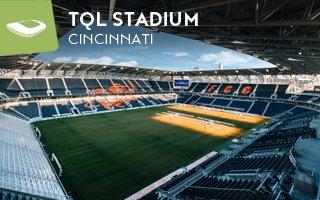 Nowy stadion: Rozświetlony dom FC Cincinnati