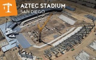 Nowa budowa: Aztec Stadium nabrał kształtu
