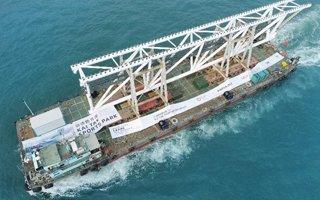 Hongkong: Płynie dach Kai Tak Stadium