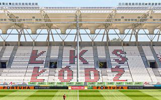 Łódź: Zobacz układ krzesełek na stadionie ŁKS