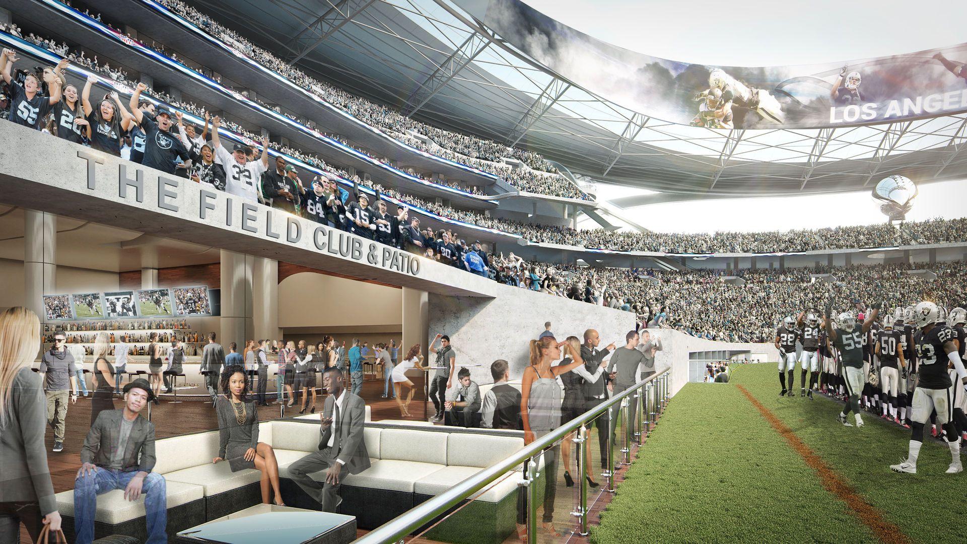 Projekt Los Angeles Stadium Stadiony Net