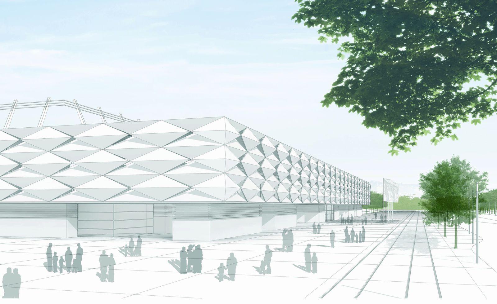 Projekt stade national de luxembourg - Architekten luxemburg ...